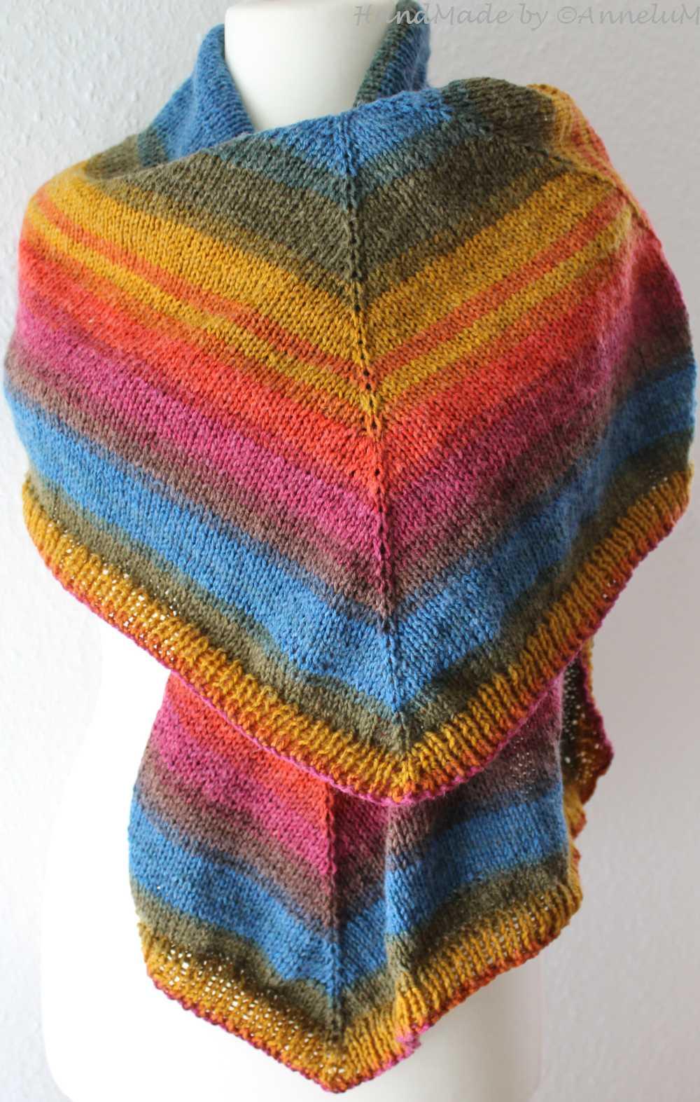 Das Tuch Nuvem gestrickt von AnneluM