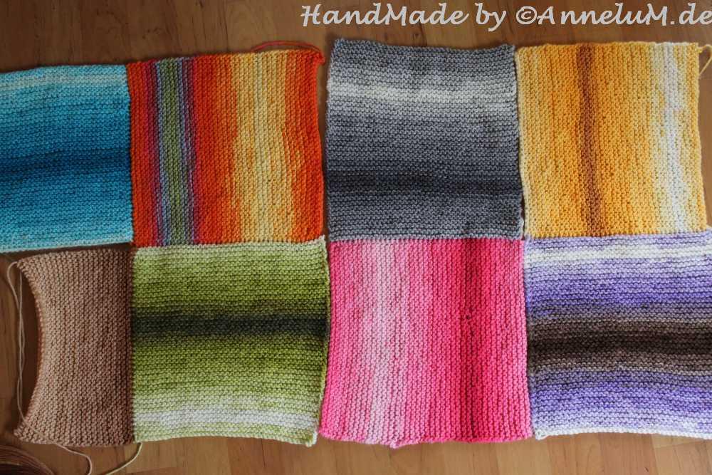 Bunter Schal aus Papatya Wolle Handmade by AnneluM