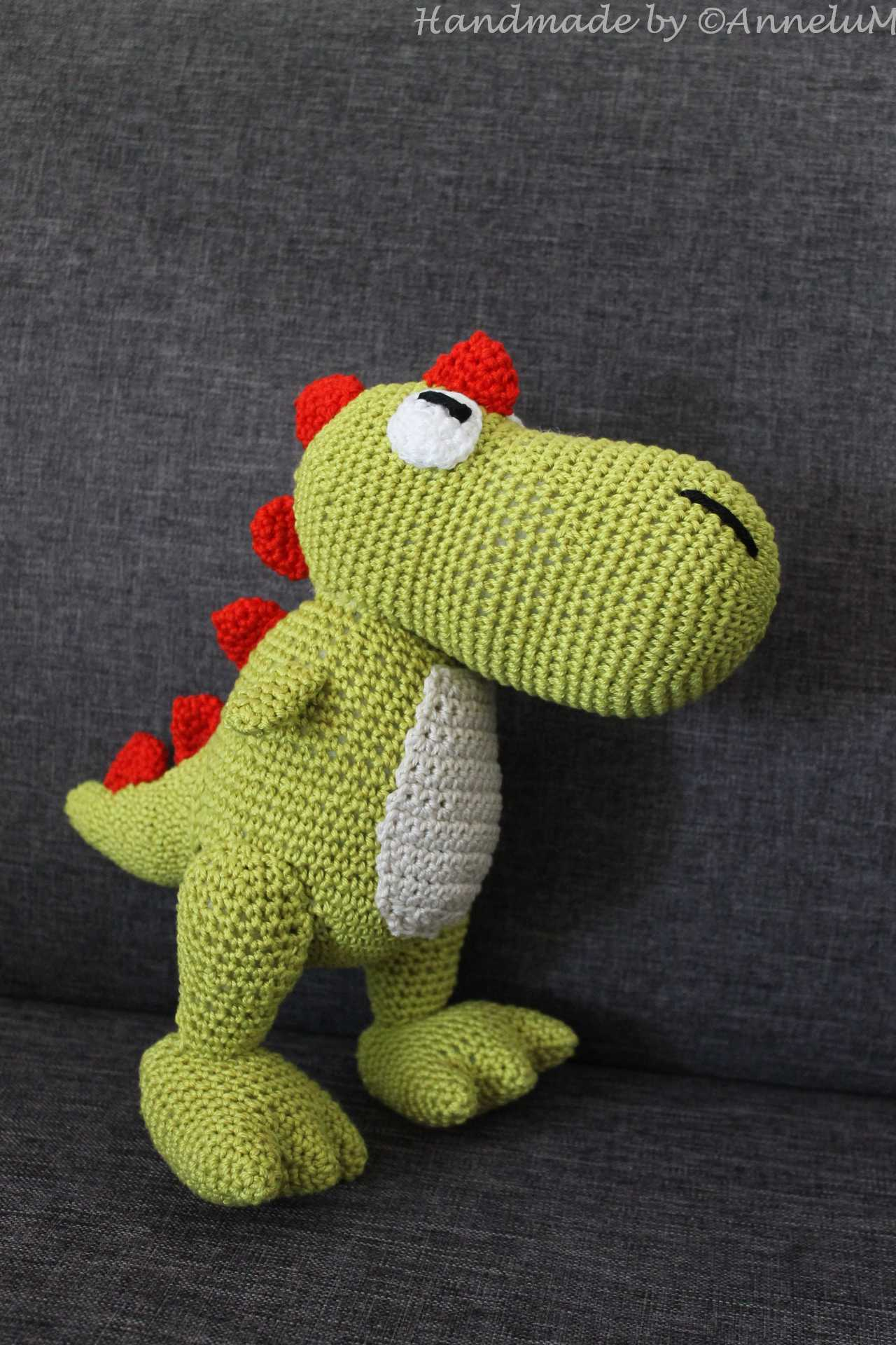 Tiny T-Rex Plush Handmade by AnneluM