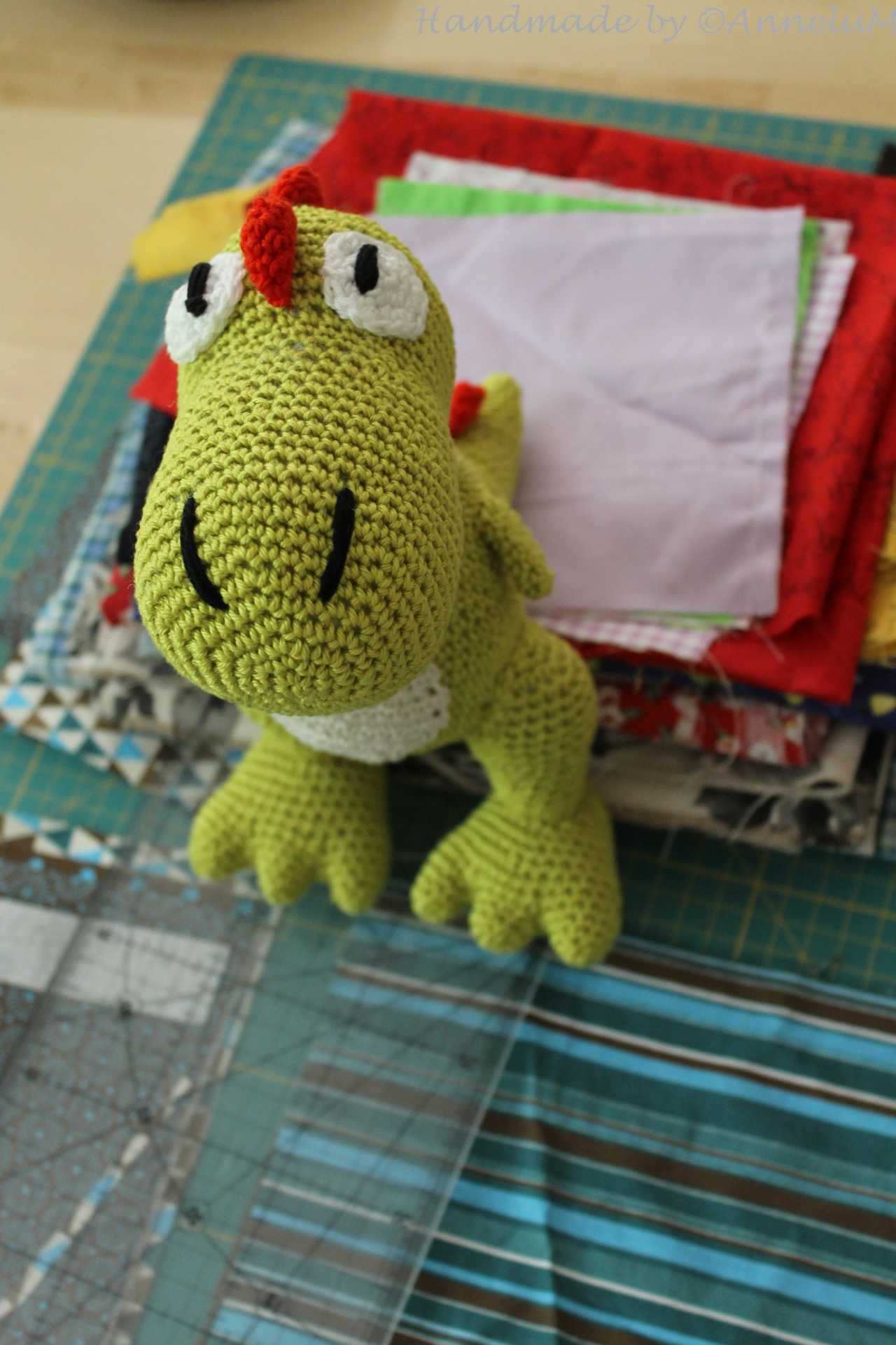 Tiny T-Rex Plush Handmade by AnneluM