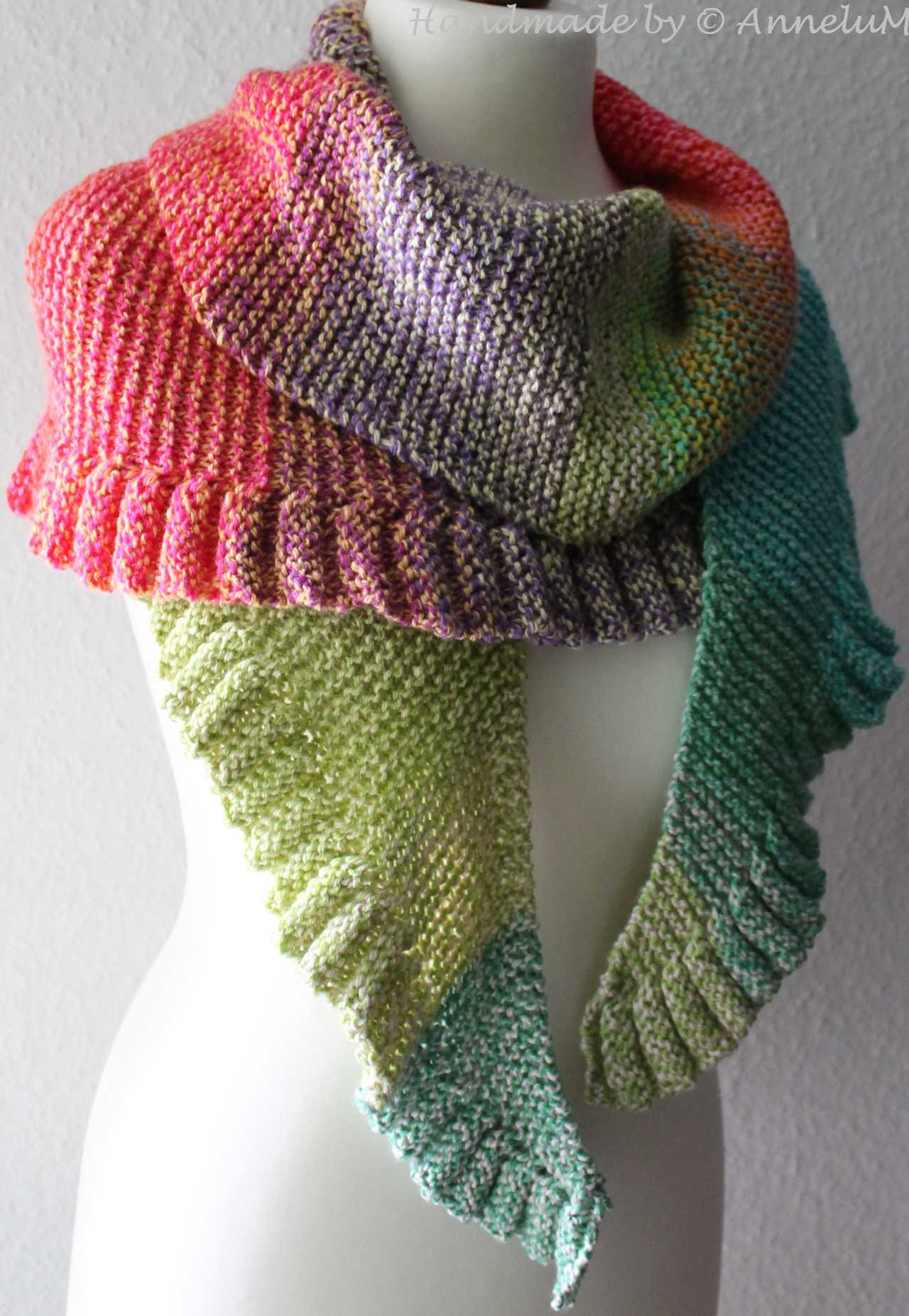 Lollipop-Shawl Handmade by AnneluM