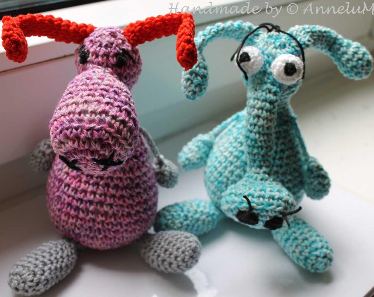 Freunde fürs Leben. Wattschwein und Elise. Handmade by AnneluM