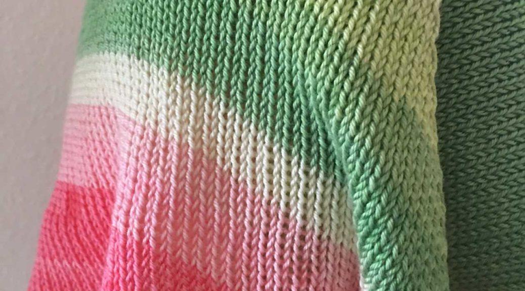 Tuch 1 gestrickt auf der Knittax 2000