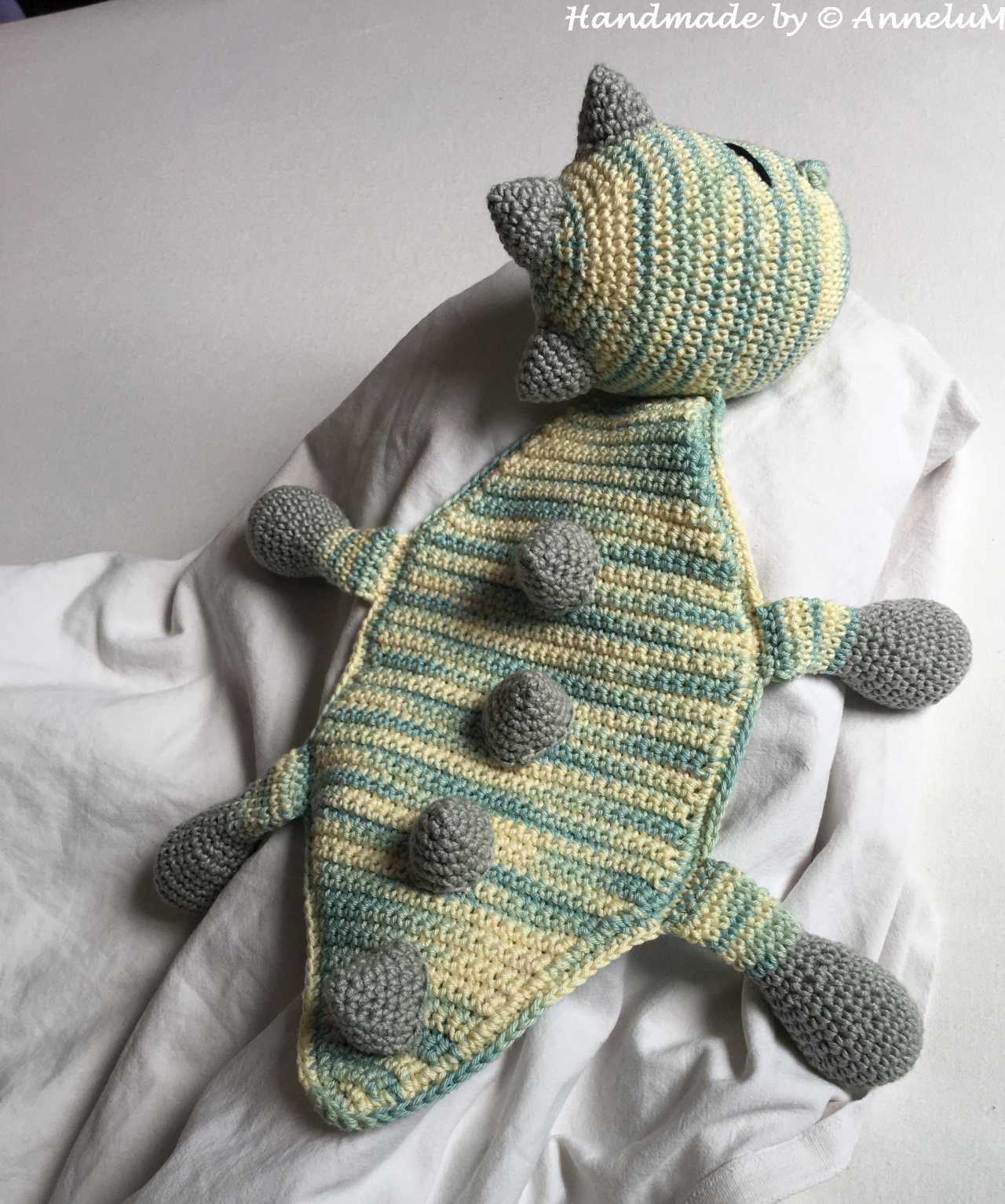 Dino Donnie-Schmusetuch Handmade by AnneluM